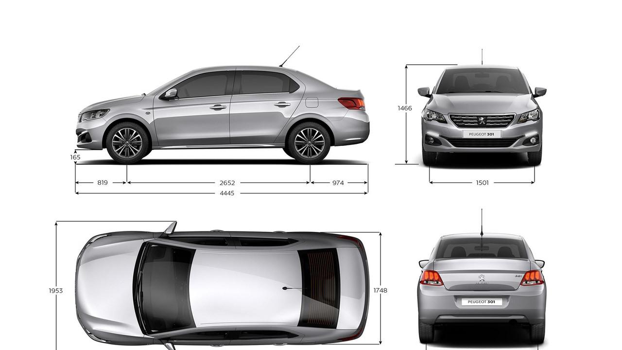 Peugeot_301_méretek